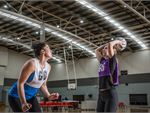 Our indoor courts cater for netball, basketball, volleyball