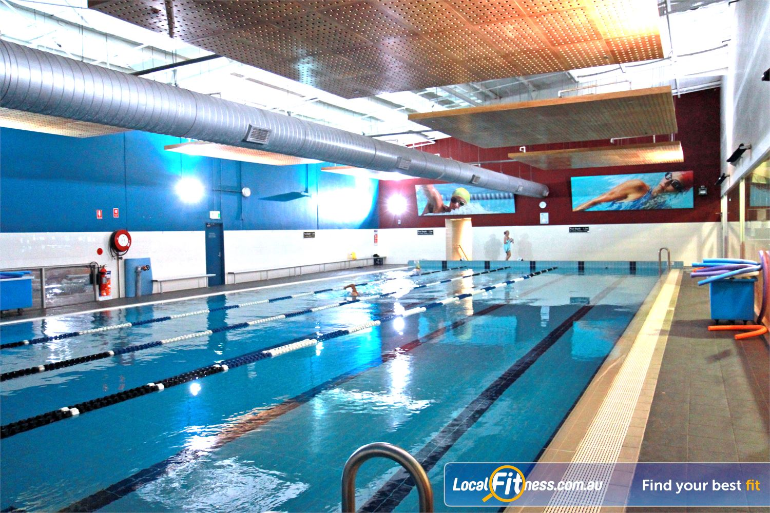 Fitness First Rockdale The open plan space give members a relaxing Rockdale swimming experience.