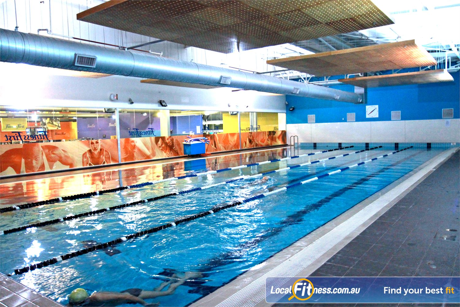 Fitness First Near Kogarah The 50m indoor Rockdale swimming pool.