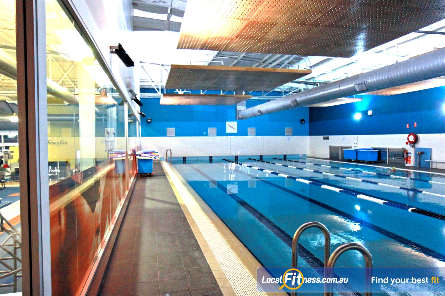 Fitness First Near Monterey Lap swimming in our Rockdale swimming pool.