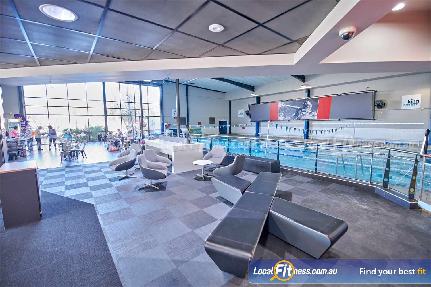 Fitness First Bayside Near Black Rock Watch your kids as they learn to swim from our members lounge and cafe area.