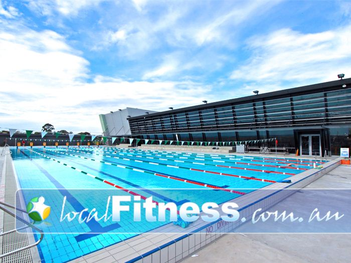 the eight lane outdoor olympic size bentleigh swimming pool - Olympic Swimming Pool Lanes