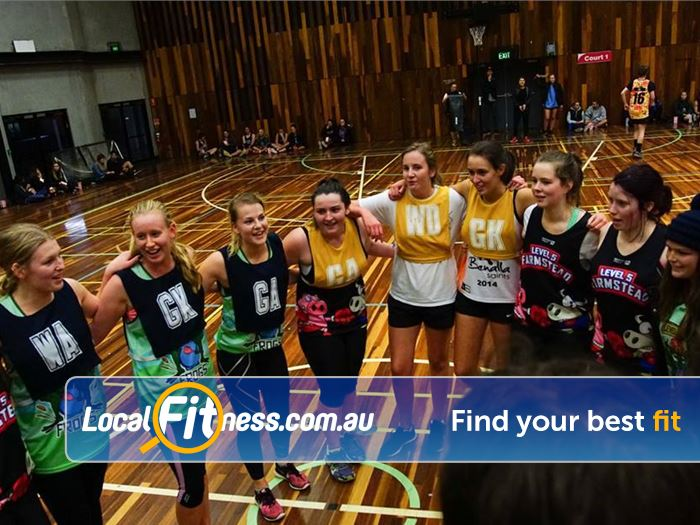 Burwood Fitness Centre Near Box Hill South Burwood netball training is a great way to keep fit and meet people.