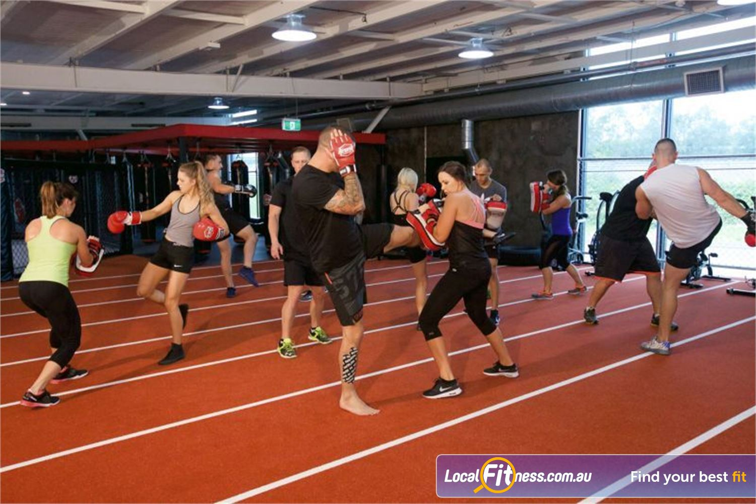 Goodlife Health Clubs Near Mango Hill Fully equipped Rothwell boxing and mma class area.
