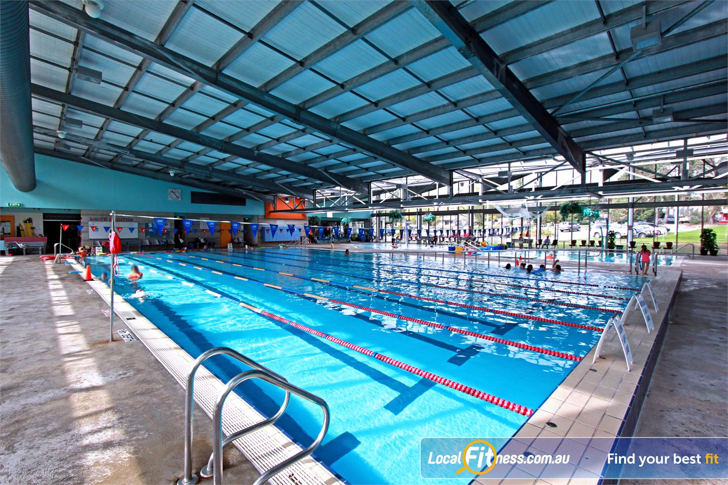 Yarra Recreation Centre Near Millgrove The 25 metre indoor Yarra Junction swimming pool.