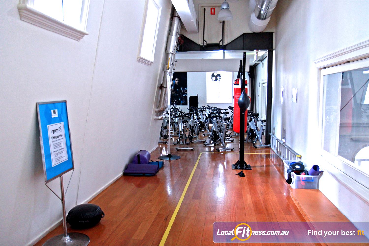 Goodlife health clubs martin place boxing area sydney