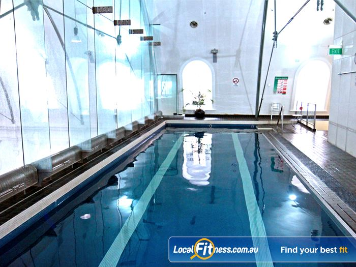 Goodlife Health Clubs Martin Place Swimming Pool Sydney  | The iconic suspended Sydney swimming pool.