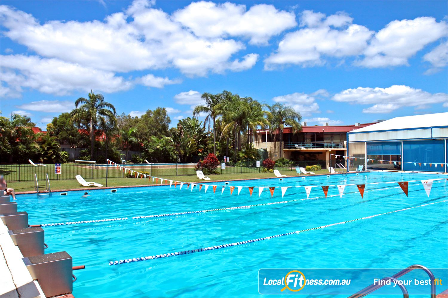 Goodlife Health Clubs Alexandra Hills The outdoor Alexandra Hills swimming pool.