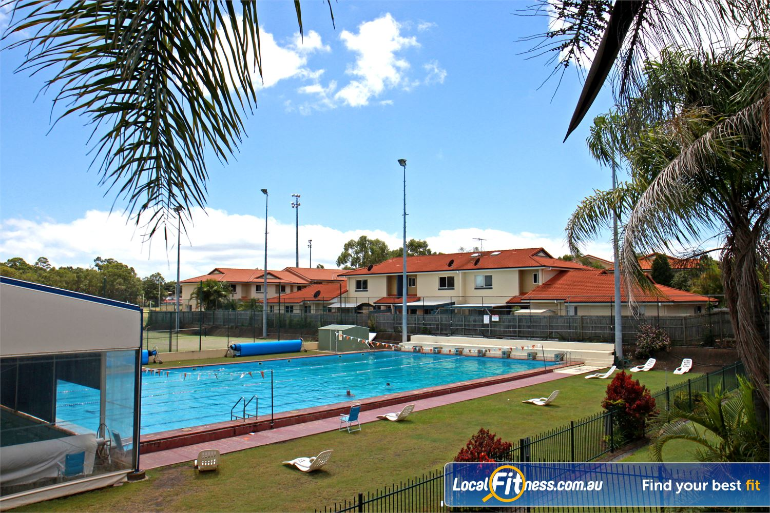 Goodlife Health Clubs Alexandra Hills The beautiful outdoor swimming pool area at Goodlife Alexandra Hills.