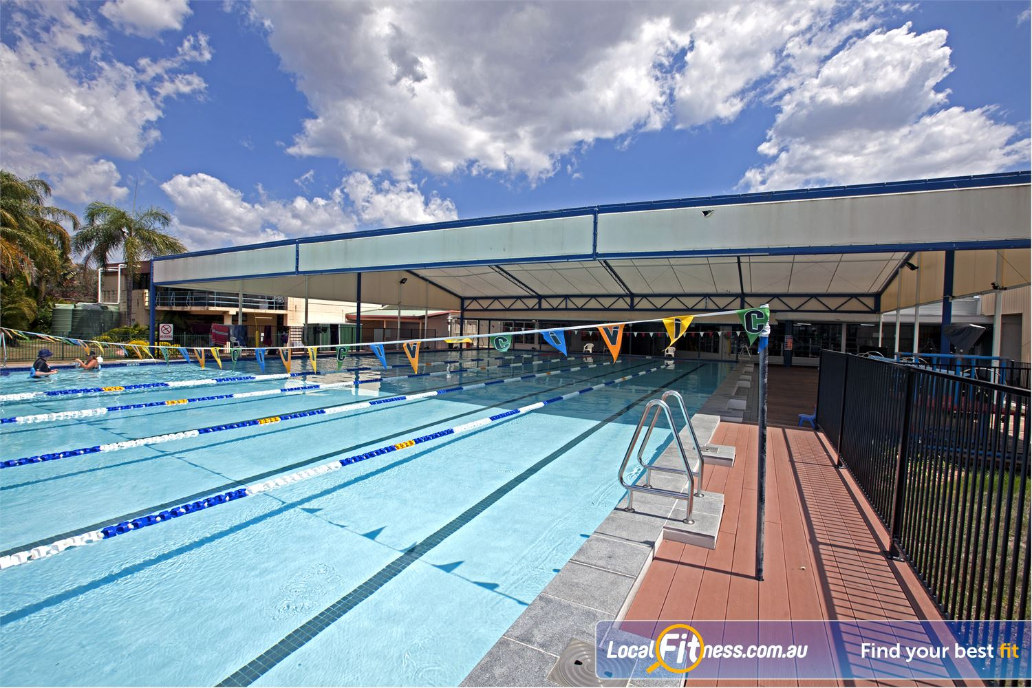 Goodlife Health Clubs Near Cleveland The indoor-outdoor Alex Hills swimming pool.