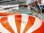 Casey RACE Junction Village Gym Swimming The space bowel water slide at