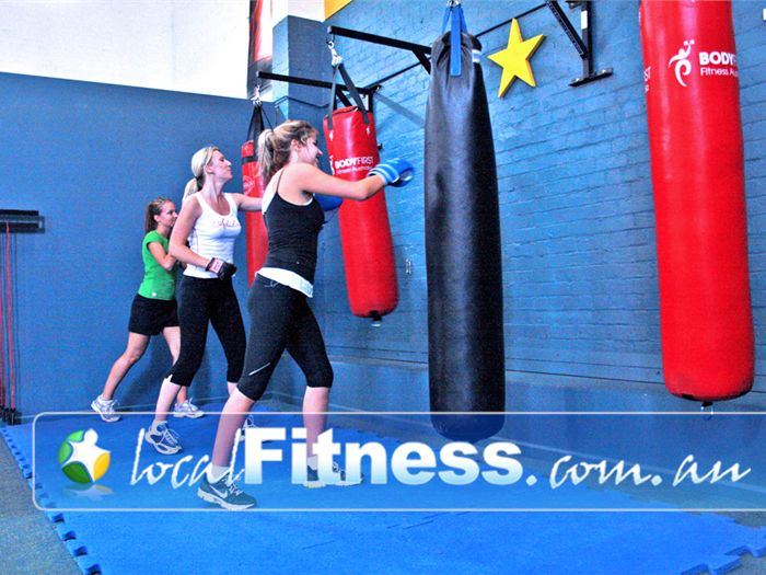 Paramount Health & Fitness Club Ascot Vale Gym Boxing Punch and kick our heavy bags in
