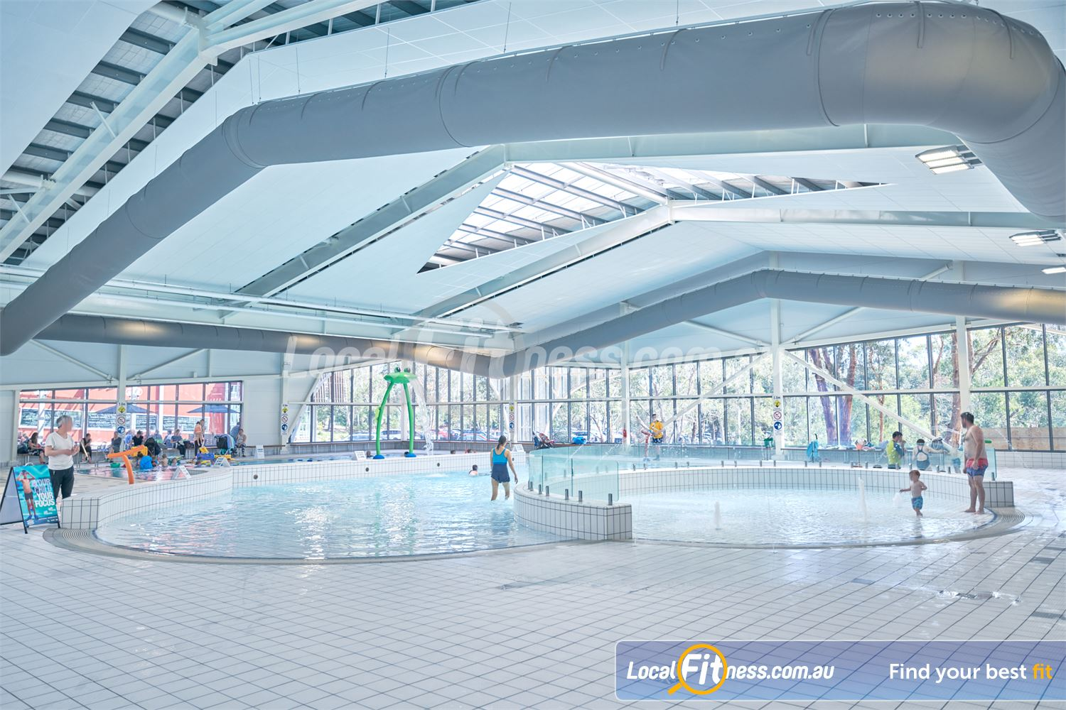 Eltham Leisure Centre Eltham The dedicated learn to swim pool, play pool and toddler pool for the kids.