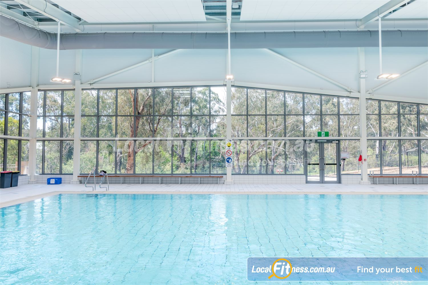 Eltham Leisure Centre Near Research Our warm water pool provides scenic views of the Eltham treescape.