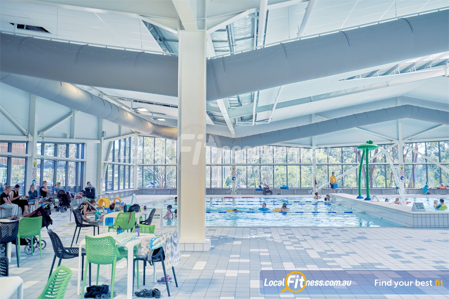 Eltham Leisure Centre Near Research The pool members lounge giving your relaxing space while you watch your kids.