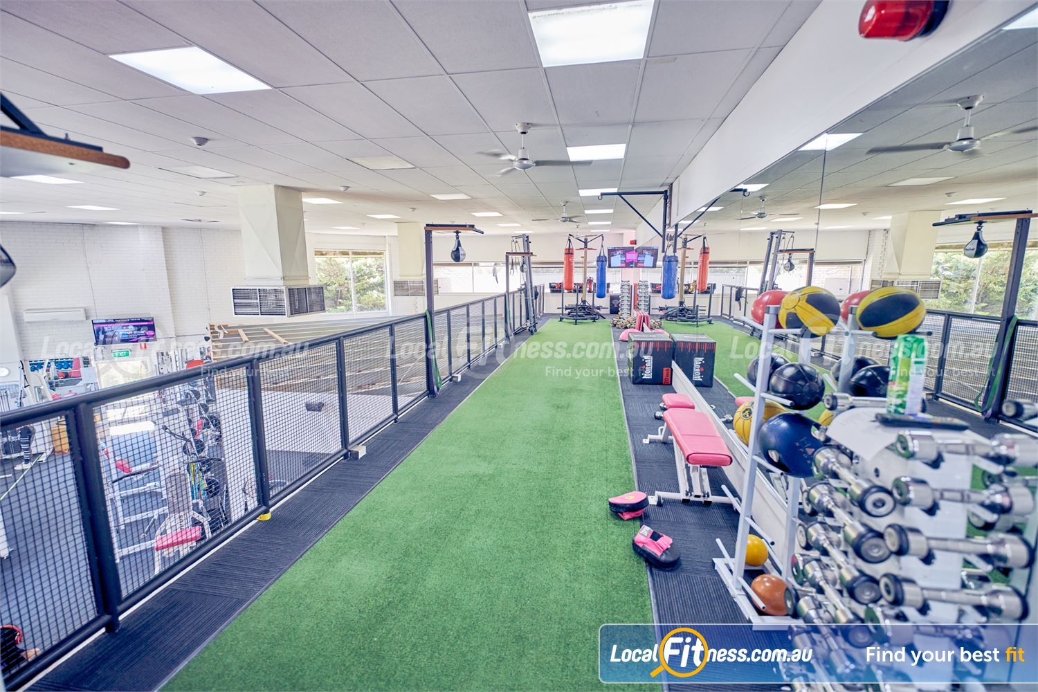 Fernwood Fitness Tullamarine Our boxing space includes multiple speed ball setups.