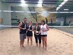 Our exclusive indoor beach volleyball court.