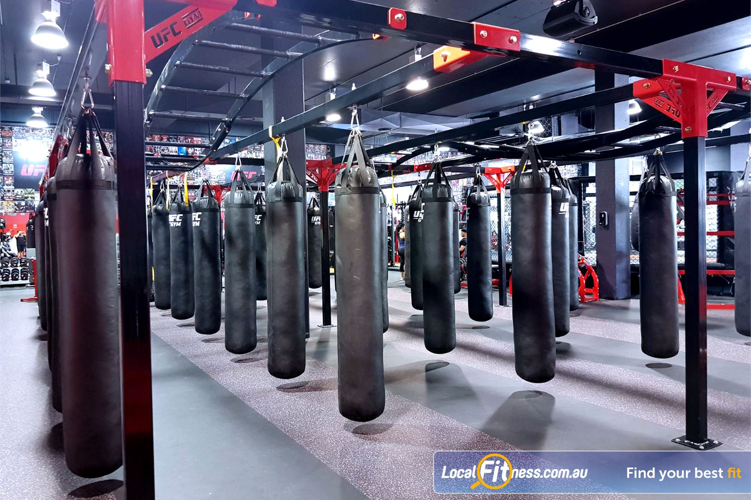 UFC Gym Blacktown Improve your striking in the boxing arena at UFC Gym.