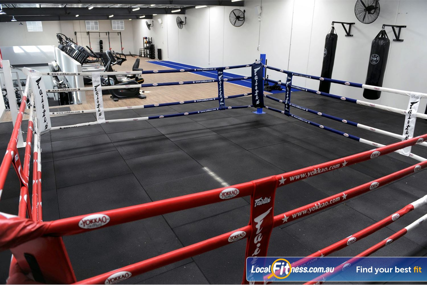 Weight of the World Fitness Altona North The dedicated Altona boxing area at Weight of the World Fitness.