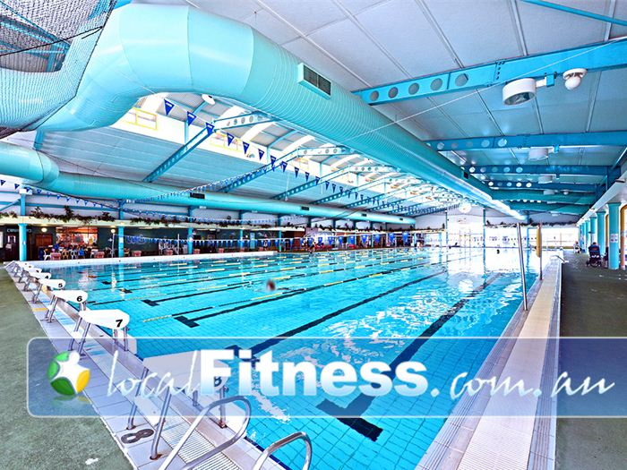 Belmont Oasis Leisure Centre Swimming Pool Perth  | L-shaped to accommodate 50m or 25m lanes.