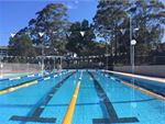 The outdoor 25m North Ryde swimming pool.