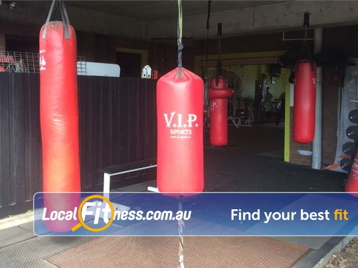 Healthy Vibes Personal Training Bulleen The dedicated Bulleen boxing area at Healthy Vibes,