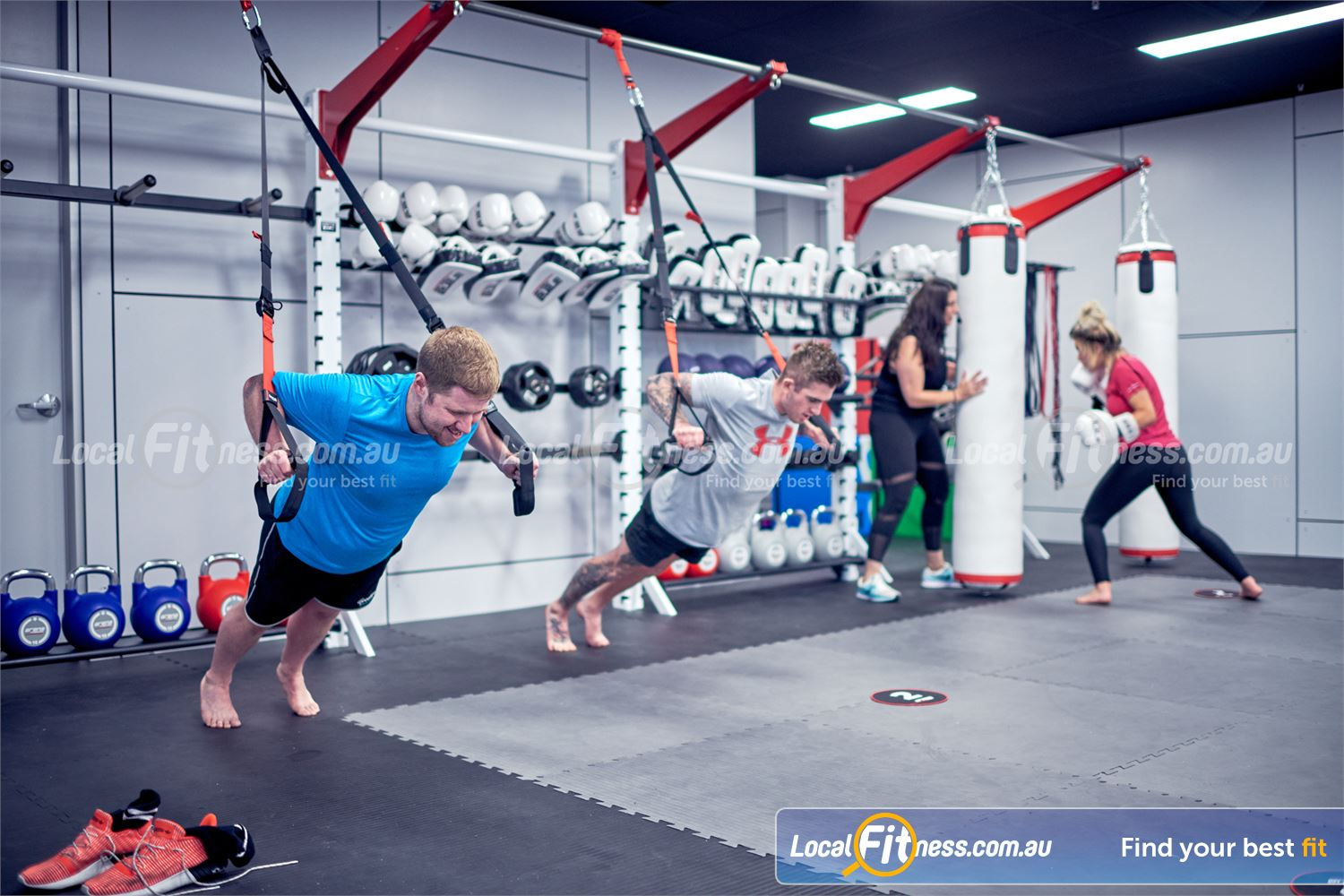 Goodlife Health Clubs Near Robina Town Centre Arena MMA workouts are functional inc. suspension training, boxing, MMA, weights and more.