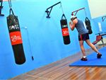 Fitness Central Mount Waverley Gym Boxing Heavy punching bags.