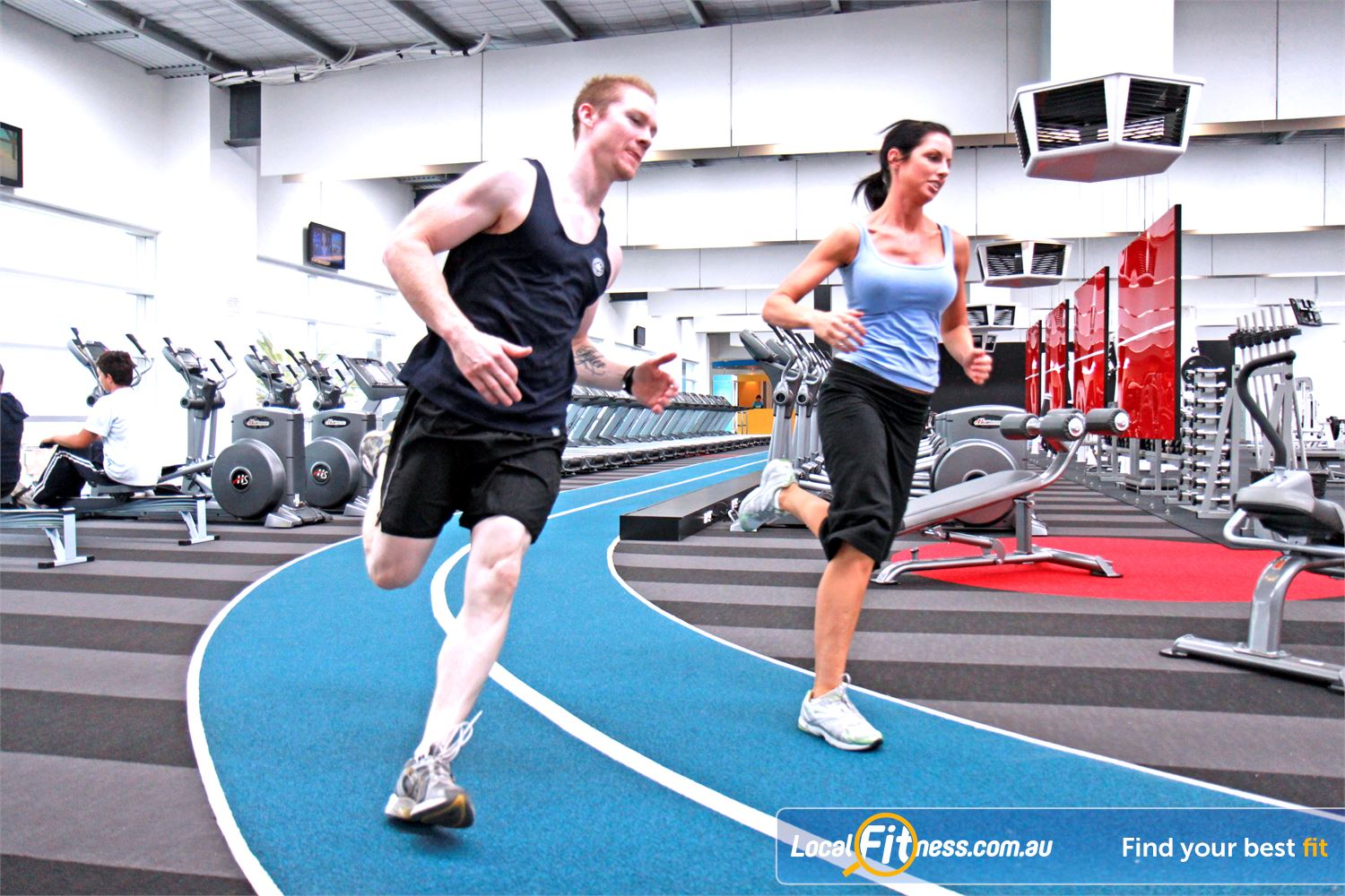 Genesis Fitness Clubs Maidstone Race your way to fitness with our indoor running track.