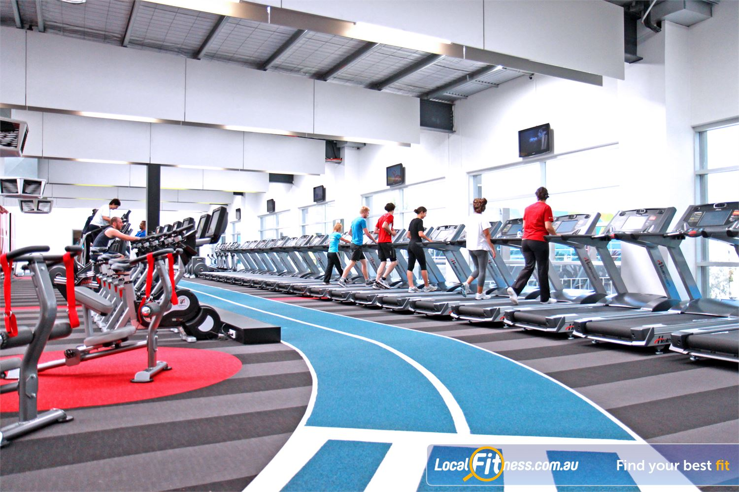 Genesis Fitness Clubs Near Maribyrnong One of the first indoor running tracks in a Melbourne gym.