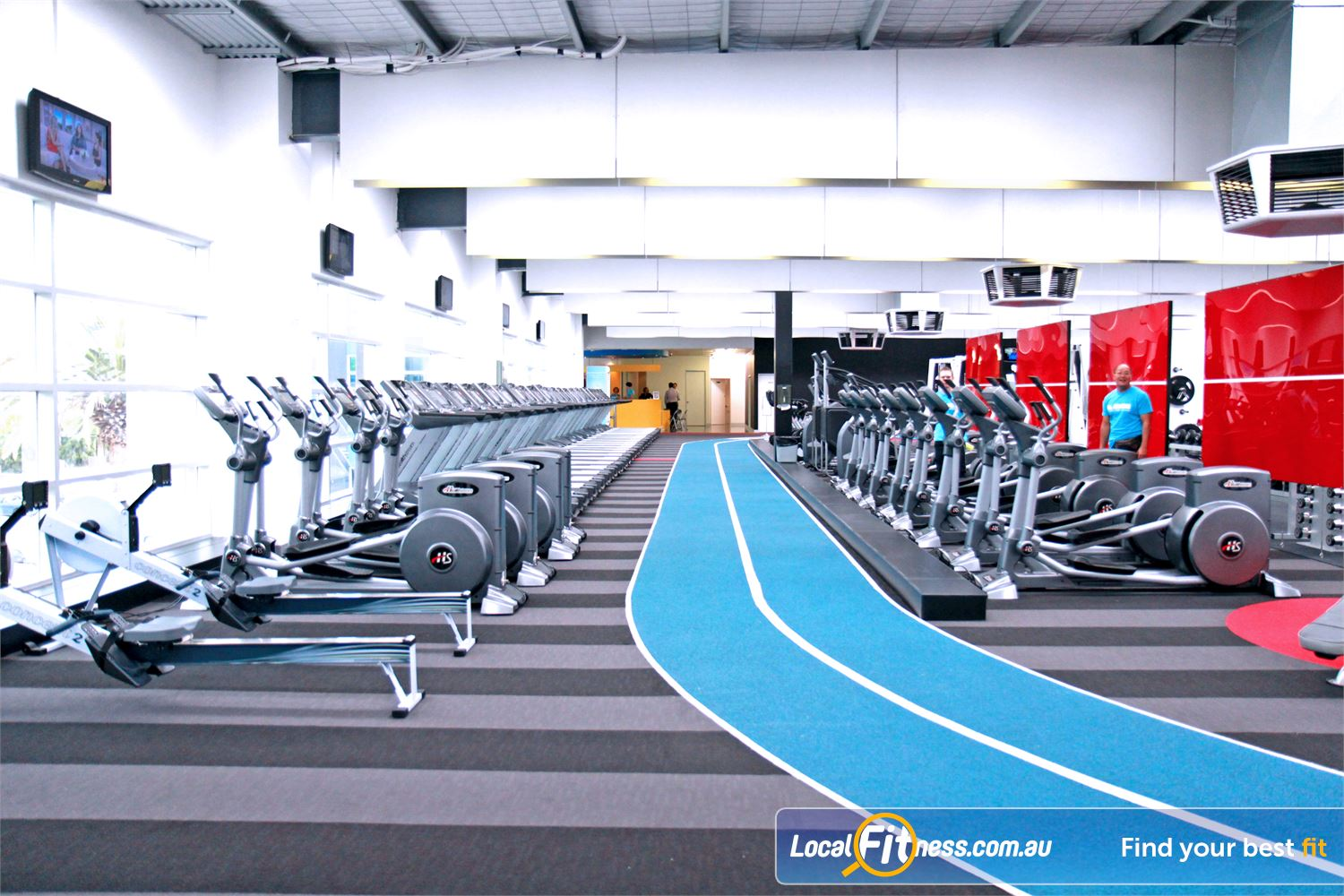 Genesis Fitness Clubs Near Avondale Heights Full rebound athletic track surface.