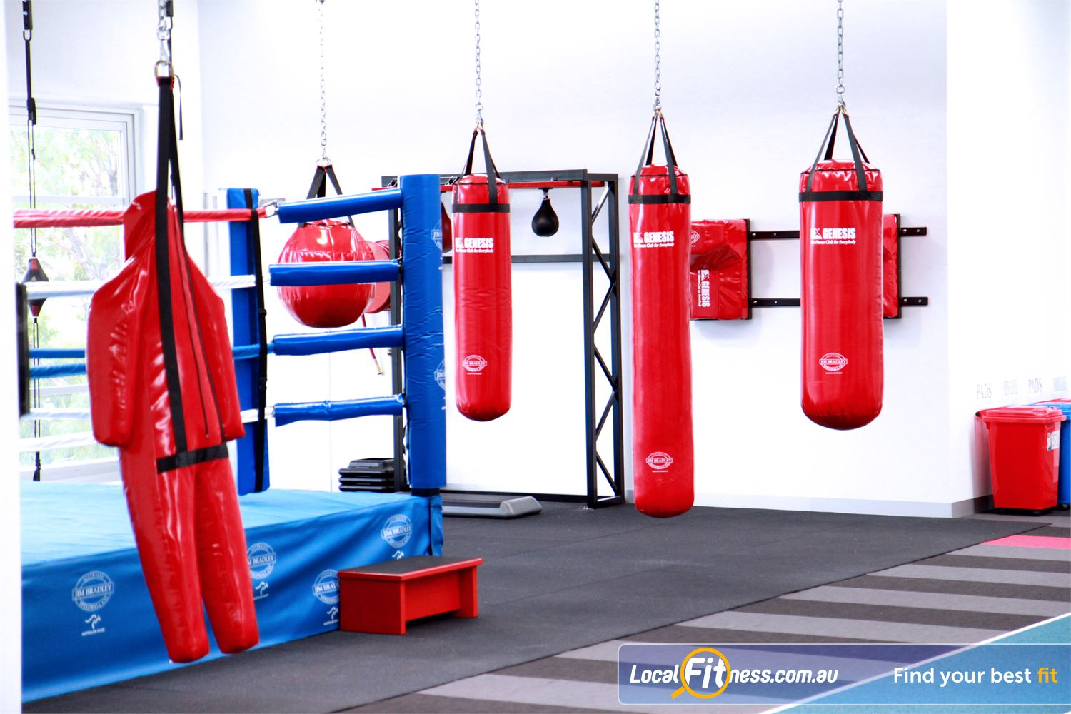 Genesis Fitness Clubs Near Avondale Heights The custom built Maidstone boxing studio.