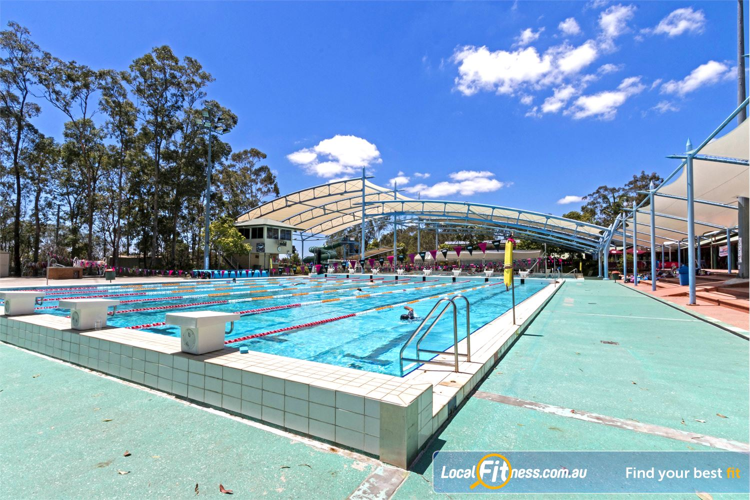 Albany Creek Leisure Centre Albany Creek The heated outdoor 50m Albany Creek swimming pool.