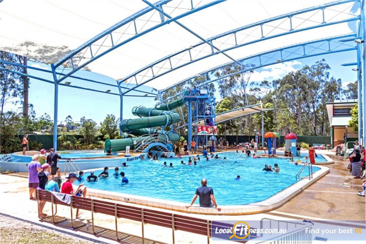 Albany Creek Leisure Centre Near Bridgeman Downs Enjoy the Outdoor Water Slide and Rapid River features.