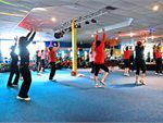 Zumba Latin Dance fitness program. The routines feature interval training sessions