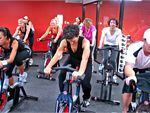 Cycle A group cycling class combining various motivational and sport psychology
