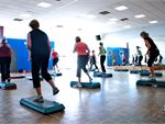 Step A great cardiovascular work out - stepping up, down and