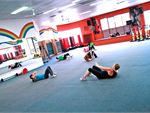 A's B's T's Abs, butts and thighs class. Includes warm up. A low