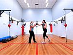 Boxing Circuit Cardio Workout focusing on upper and lower body movements. You
