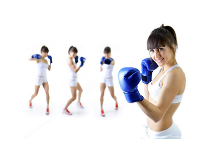 Boxing a boxing circuit class combining punches and boxing exercises to