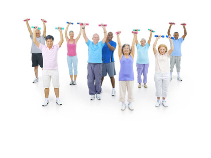 Plus 55 Gym sessions for older adults.