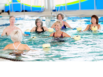 Aqua Low impact exercises utilising the resistance of water. There is