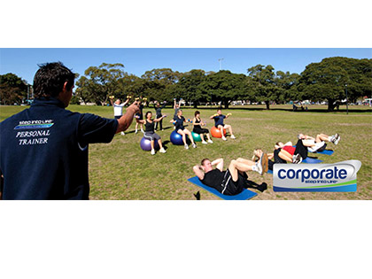 corporate Perth - We also offer corporate training providing group fitness exclusively for
