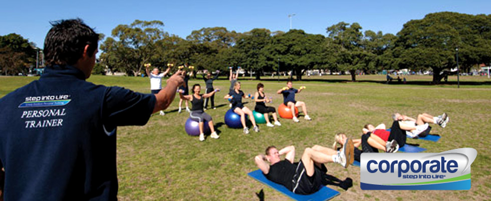 Step into Life Kooyong Outdoor Fitness Outdoor Dynamic strengthening using