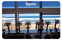 Find gyms, health clubs, fitness centres